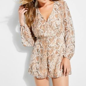 Women's Long Sleeve Gabi Tie Romper
